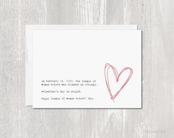 Anti Valentine's Day Greeting Card   Blank Inside