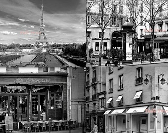 """Paris """"Scenes from the City"""" Iconic Black and White Landmarks Customized Stationary"""