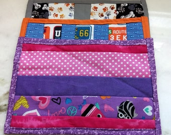 Quilted Mug Rugs Pets, Travel and Girly