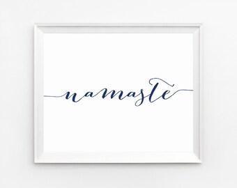 Namaste Poster, Prints, Printable Quotes, Wall Art, Indie Decor, Namaste Print, Wall Art Prints, Yoga Wall Art, Yoga Printable, Namaste, Art