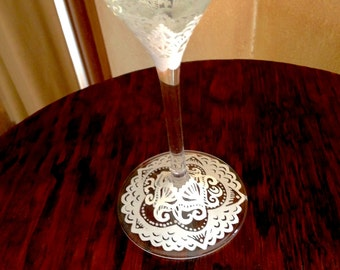 Lace toasting flutes
