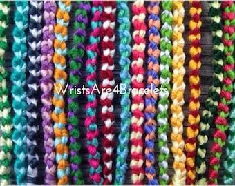 Custom Double Chain Knot Friendship Bracelets - Choose Your Own Colors