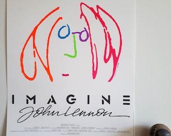 European Movie Poster IMAGINE JOHN LENNON. 1988. Size 15.5 x 20.5 inches