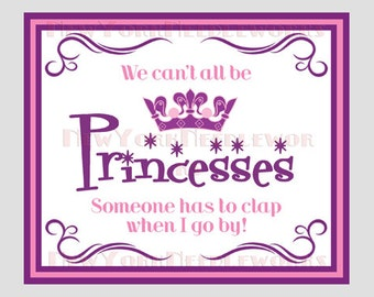 Princess Cross Stitch, Modern Cross Stitch, We Can't All Be Princesses, Girl's Cross Stitch Princess Sign from NewYorkNeedleworks on Etsy