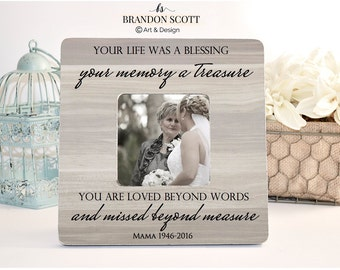 Your Life Was a Blessing, In memory of, Sympathy Frame, Memorial Frame, Bereavement gift, Loss Frame, Funeral Gift, Memorial Gift, Sympathy