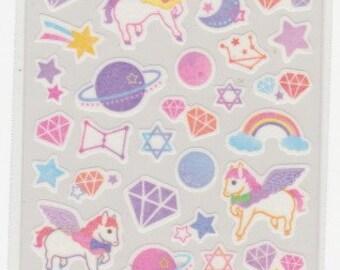 Unicorn Stickers - Galaxy Stickers - Masking Tape Stickers - Reference A6704-05