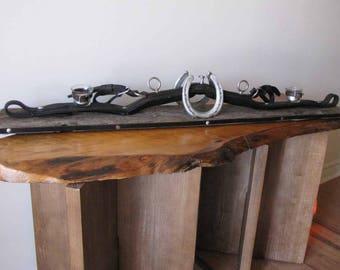 Leather Horse Harness Mantle Tea Light Holder
