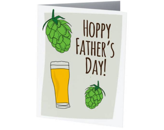 Featured listing image: Hoppy Father's Day | Father's Day Card | BEER LOVER!