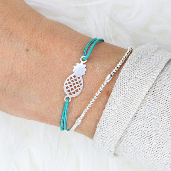 bracelet for women 925 sterling silver pineapple bead
