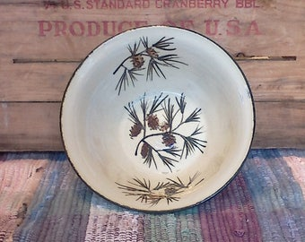 Medium size handmade pottery bowl - 22 oz bowl - Handmade ceramic serving bowl - Rustic Pottery Bowl in Pinecone 1741