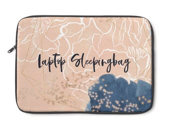 Blush And Navy Dreamy Laptop Sleeve