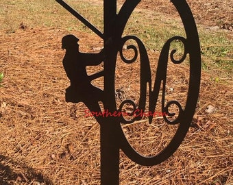 Lineman Monogram Yard Stake