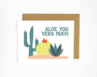 Aloe You Vera Much (greeting card)