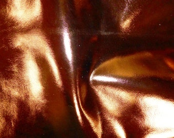 "Leather 8""x10"" BRONZE Metallic Foil Cowhide 3-3.25 oz / 1.2-1.3mm PeggySueAlso™"