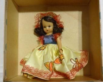 """Nancy Ann Storybook Doll Little Miss Muffet 112 Eyes Open And Shut 6"""" Tall"""