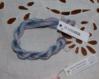 Beaded 12 House of embroidery collar 34 c LAVENDER n