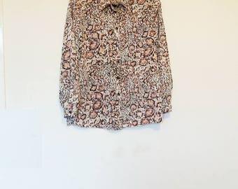 Animal Print Blouse Vintage Silky Blouse Leopard Print Button Up Shirt Long Sleeve Satin Feel Blouse Women's Vintage Animal Pattern Cheetah