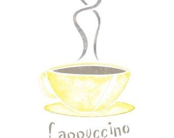 Cappuccino Cup Stencil