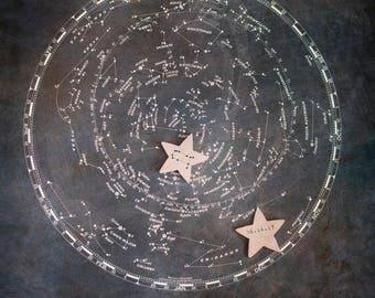 Constellation Nursery, Constellation Zodiac Print, Custom Star Map, Astrology Decor, Night Stars, Zodiac Nursery, Custom Constellation Art