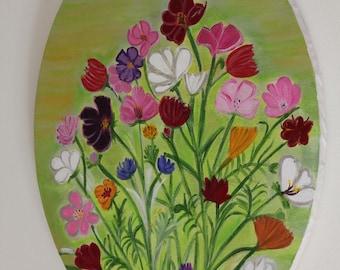 Original Figurative painting - flowers