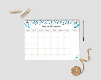 Monthly planner, Desk monthly planner, organize tasks, calendar for desk, calendar planner, stationery gift idea, Anniverary gifts