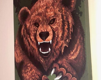 Forest Bear Canvas