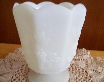 Harvest Grape Milk Glass Vase