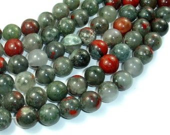 African Bloodstone, 12mm (12.4 mm) Round Beads, 15.5 Inch, Full strand, Approx 32 beads, Hole 1.2 mm, A quality (124054005)