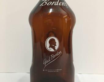 Vintage Gail Borden's Milk Bottle. Half Gallon. Decent Condition.