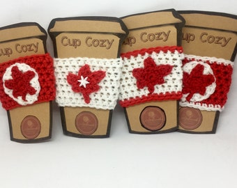 Maple Leaf Cup Cozies