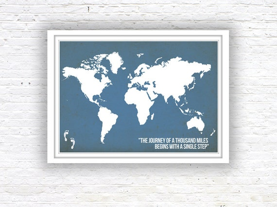 World map poster world map quote poster wall decor world gumiabroncs Choice Image