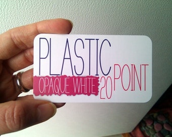"500 White Plastic Business Cards (2"" x 3.5"")"