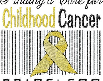 Childhood Cancer Embroidery Design
