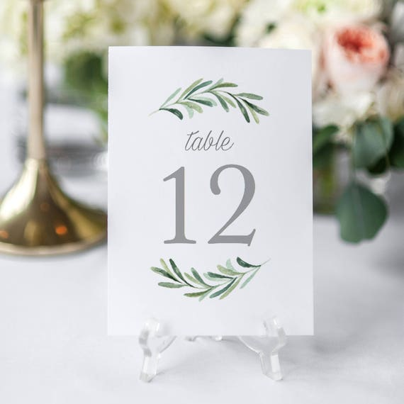 Printable Table Numbers Template Editable Table Numbers - Wedding table numbers template