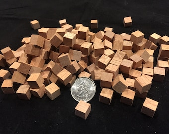 "825 count 3/8"" wood cubes - aromatic Spanish cedar wood cubes for DIY arts and crafts"