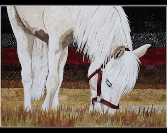Card Art quilt with Horses (C12)