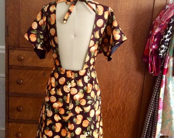 Orange you glad it is Spring backless dress