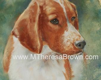 Dog Custom Portrait, Muliple Pets Portrait, PASTEL Dog, Canine Art, Hand Drawn Art by Professional Artist, M Theresa Brown, All Sizes