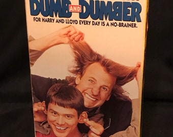 """Vintage VHS Tape """"Dumb and Dumber"""" Classic Jim Carrey Movie"""