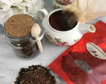 Elderflower Blossom Organic Herbal Tea Jar w Spoon or Pouch No Caffeine
