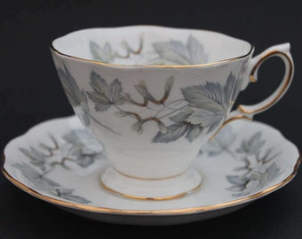 """ROYAL ALBERT Bone China Teacup and Saucer """"Silver Maple"""""""