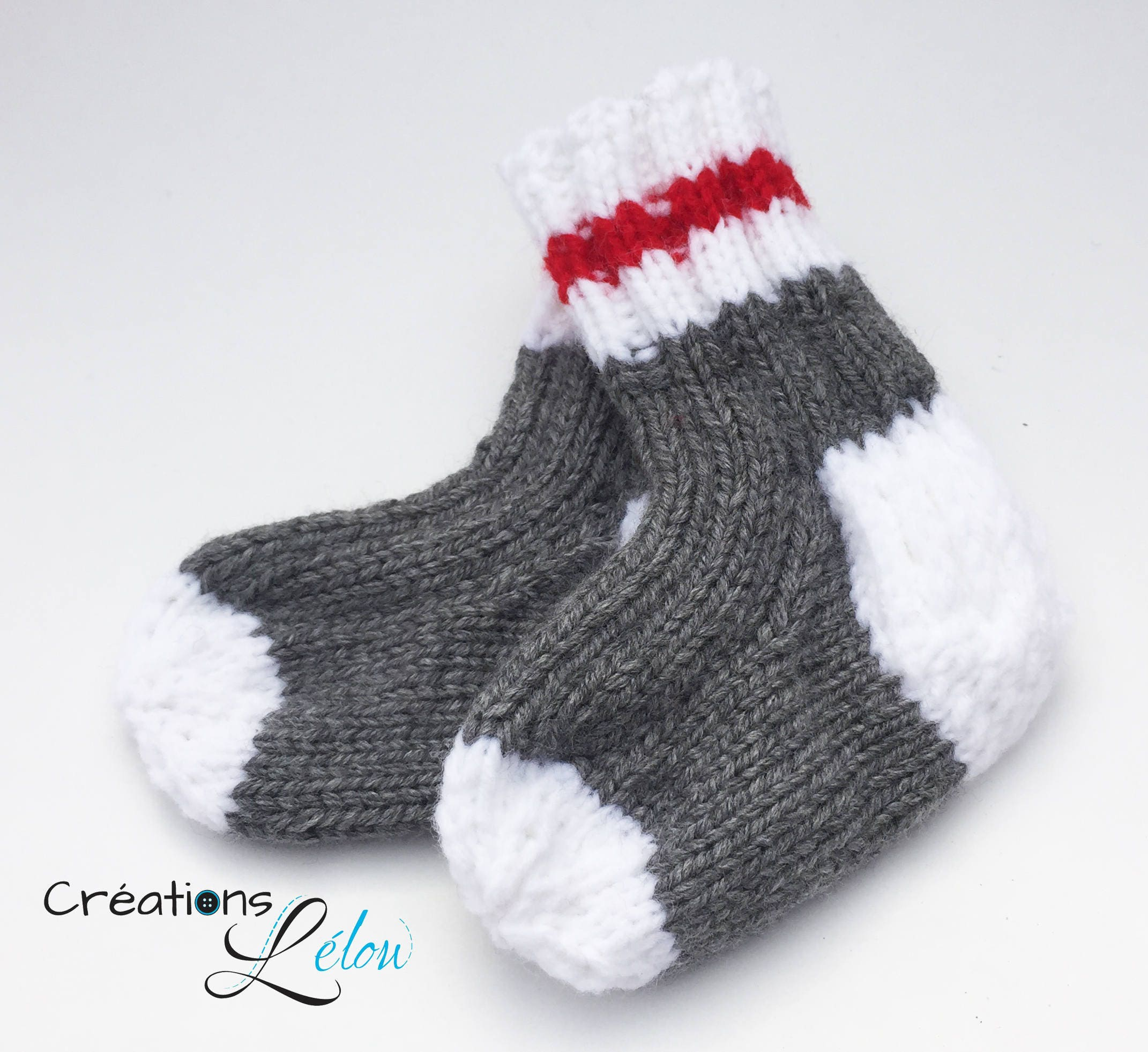 Baby and child wool socks uni acrylic grey white and