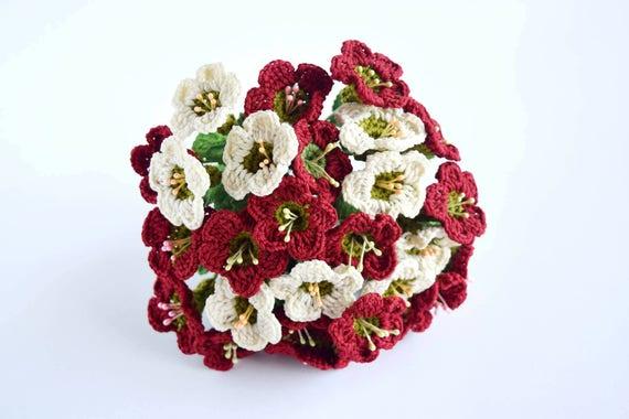 PATTERN Crochet Wedding Hand Bouquet Digital Download Pattern