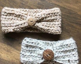 Crochet Turban Headband - Boho Headband - Baby Girl - Crochet Headwrap - Infant/Toddler