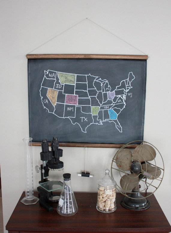 Chalkboard united states map small size travel theme gumiabroncs Image collections