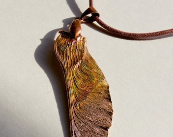 ONE DAY SALE Maple Seed Pendant (247)