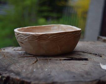Carved wooden bowl