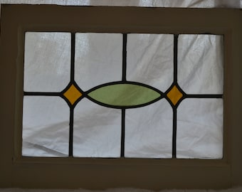 1 art deco British leaded light stained glass panel. R506b. WORLDWIDE DELIVERY!!!