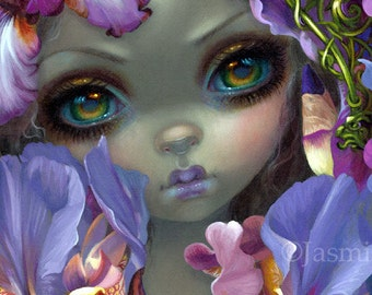 The Language of Flowers III: Irises fairy art print by Jasmine Becket-Griffith 8x10 iris victorian floriography