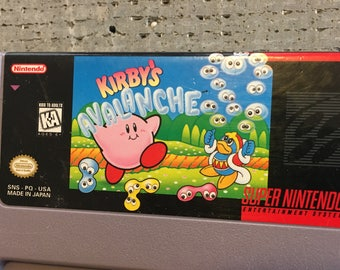 Super Nintendo Kirby Avalanche Game
